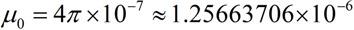 Formula, Permeability of Free Space